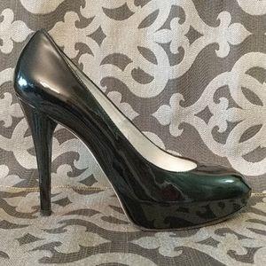 Stuart Weitzman Shoes - Stiletto Black Patent Leather Pumps